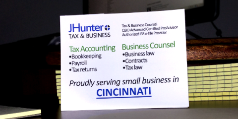 JHunter, Bookkeeping, Services, Cincinnati, Ohio