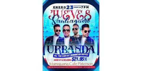 JUEVES SANTIAGUEROS- URBANDA-  ENERO 23- MAMAJUANA CAFE PATERSON , Paterson, New Jersey