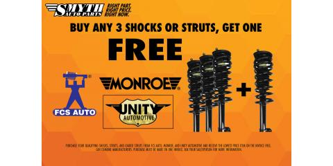 July - Buy 3 Shocks or Struts, Get one FREE, Bethel, Ohio