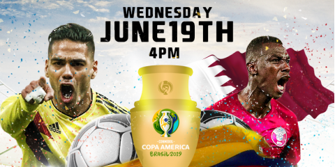 COLOMBIA VS QATAR- 4:00 WEDNESDAY JUNE 19TH- MAMAJUANA CAFE QUEENS, New York, New York