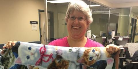 CMHS Senior Living Raffles Blankets for Charity, Gatesville, Texas