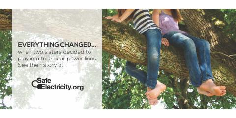 Never let children climb trees near power lines. , Jemez Pueblo, New Mexico