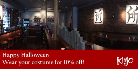 Enjoy 10% Off Kinjo's Asian Cuisine & Cocktails on Halloween, Brooklyn, New York