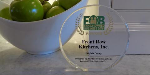 "Front Row Kitchens Accepts Award for a ""Family-Owned Business 2018"" !, Norwalk, Connecticut"
