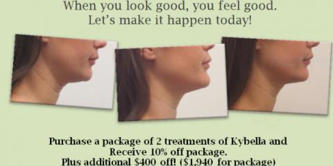 10% off 2 treatment Kybella package + $400 additional off, Honolulu, Hawaii