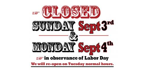 Labor Day Holiday Hours, Newport-Fort Thomas, Kentucky