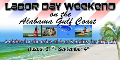 Your patience has paid off, book now for Labor Day, Gulf Shores, Alabama