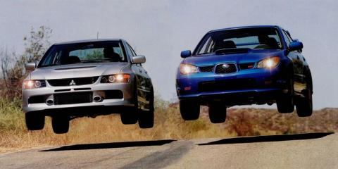 The bloodline of both the Mitsubishi Evolution and the Subaru WRX-STI run deep. Which do you prefer?, Gorst, Washington