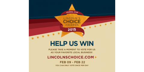 "Help Tag Ink & Thread Win ""Best Screen Printing"" at Lincoln's Choice Awards, Lincoln, Nebraska"