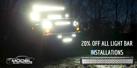20% Off All Light Bar Installations, Ramsey, New Jersey