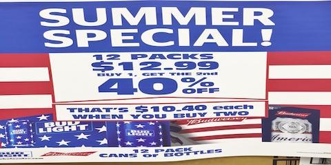 Liquor Store Summer Special For 12-Packs of Bud!, Wailuku, Hawaii