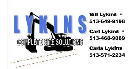 Lykins Complete Site Solutions, Excavating, Services, Middletown, Ohio