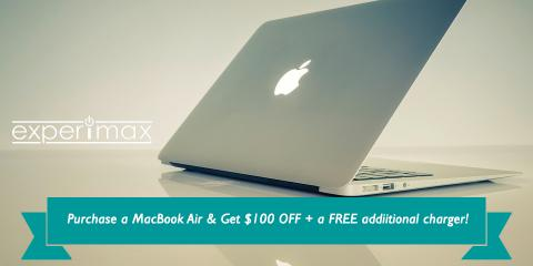 Purchase a MacBook Air Laptop & Get $100 OFF + EXTRA Charger, Portsmouth, New Hampshire