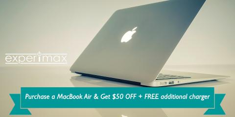 Purchase a MacBook Air Laptop & Get $50 OFF + EXTRA Charger!, Portsmouth, New Hampshire