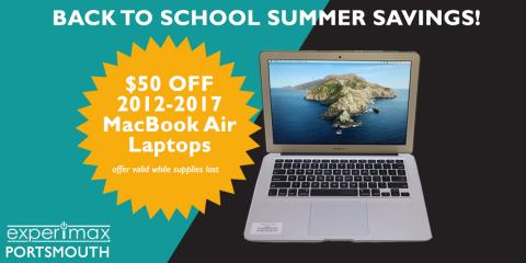 Back To School Offer - $50 OFF MacBook Air Laptops!, Portsmouth, New Hampshire