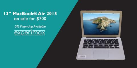 "13"" MacBook® Air Laptop -SALE- $700 at Experimax Portsmouth!, Portsmouth, New Hampshire"