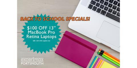 """Back To School Offer - $100 OFF 13"""" MacBook Pro Retina!, Portsmouth, New Hampshire"""