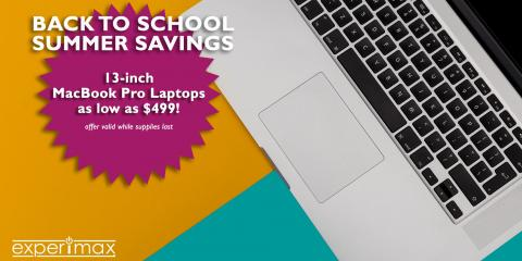 """Labor Day Sale - 13"""" MacBook Pro Laptops as Low as $499, ,"""