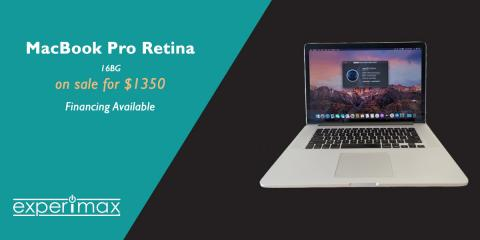 15-inch MacBook® Pro Retina - Fully Loaded! Call Now!, Henderson, Nevada