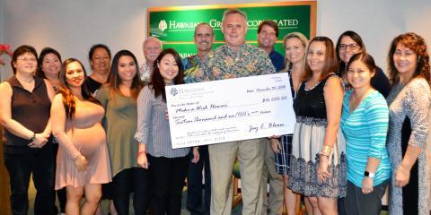 Hawaiiana Employees Donate $16,000 to Make-a-Wish Hawaii!, Honolulu, Hawaii