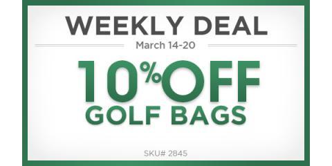 Weekly Deal 10% off Golf Bags, Manhattan, New York