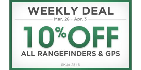 10% off on all Rangefinders and GPS units, Manhattan, New York