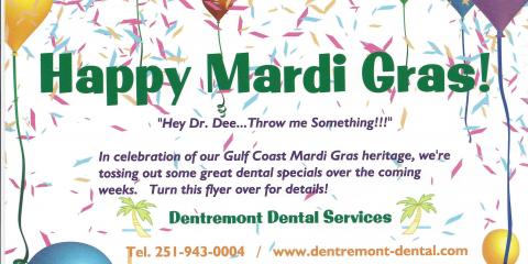 Mardi Gras 2017 Offers at Dentremont Dental, Gulf Shores, Alabama