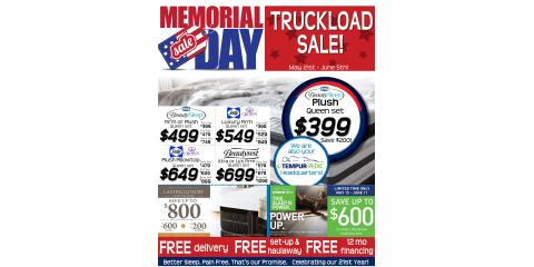 Memorial Day Truckload Sale Starts NOW!, Minocqua, Wisconsin