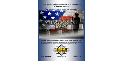 Memorial Day Hours , Henrietta, New York