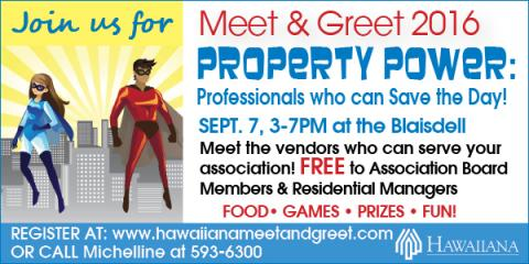 """Hawaiiana Brings Condo & Community Association Board Members together with vendors at annual """"Meet & Greet"""" event at the Blaisdell, Honolulu, Hawaii"""