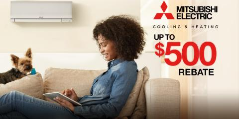 Up to $500 in Rebates on Mitsubishi Electric® HVAC Systems!, North Hempstead, New York
