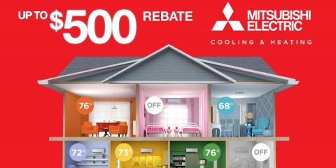 Earn Up To a $500 Fall Rebate on a Mitsubishi Electric Unit, Brooklyn, New York