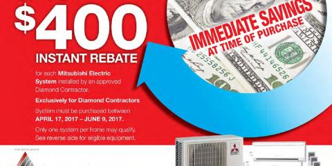 Save $400 Off of Your First Mitsubishi Electric AC Unit!, Brookline, Massachusetts