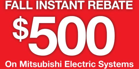 Get up to $500 Off a New Mitsubishi Electric™ HVAC System, North Hempstead, New York