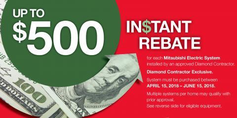 Save Up to $500 on Mitsubishi Electric® , Staten Island, New York