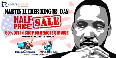 50% Off Computer Repair MLK Weekend, Alexandria, Virginia