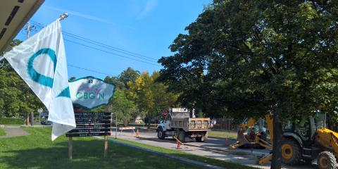 Temporary Parking Issue at Montcalm Office , Fulton, New York