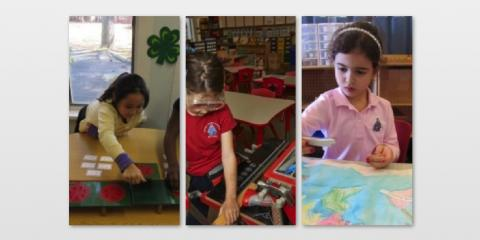 Kindergarten Students Love to Learn at Blue Bell Montessori School, Whitpain, Pennsylvania