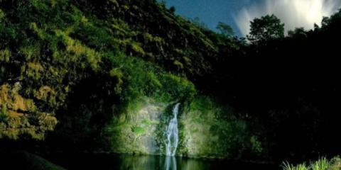 Summer Evenings at Waimea Valley , Koolauloa, Hawaii