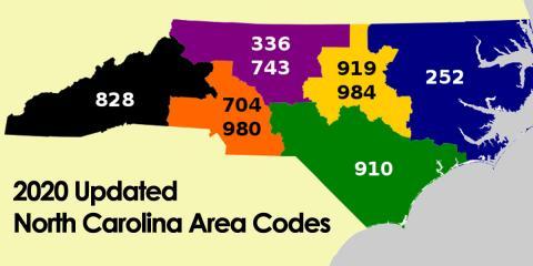 Slow Adoption of New Area Code 743 in the Piedmont Triad, North Carolina, Greensboro, North Carolina