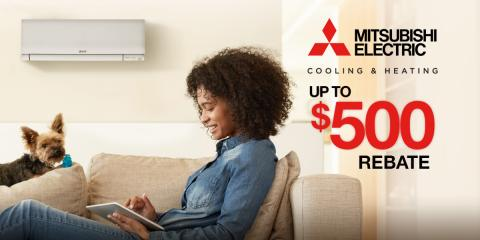Earn Up to $500 Back on a New Mitsubishi Electric System!, New Milford, Connecticut