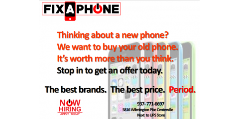 We want to buy your old phone, Washington, Ohio