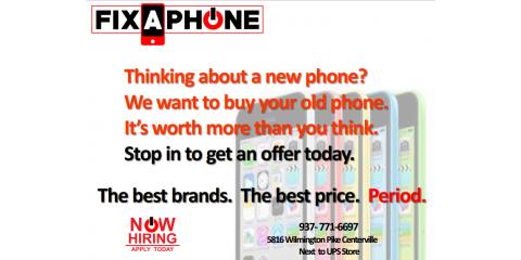We want to buy your old phone, Washington, Ohio