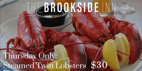 Steamed Twin Lobsters special for $30 available tonight! #supportlocal, Oxford, Connecticut