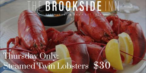 Steamed Twin Lobster Special will be available this evening for $30! #supportlocal, Oxford, Connecticut