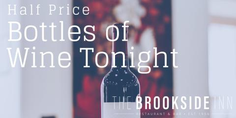 Wine Wednesday is here! Bottles of wine for half price tonight! #supportlocal, Oxford, Connecticut