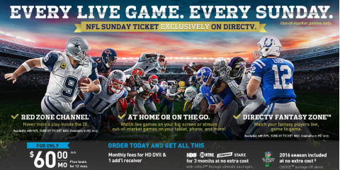 NFL Packages & Rewards From DirecTV You Don't Want to Miss, Auburn, Ohio