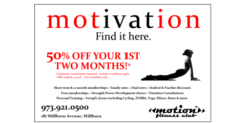 Motion Fitness-Get 50% OFF your first 2-months!, Millburn, New Jersey