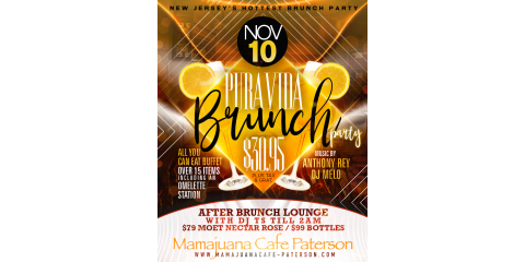 PURA VIDA BRUNCH PARTY- NOV 10- MAMAJUANA CAFE PATERSON , Paterson, New Jersey