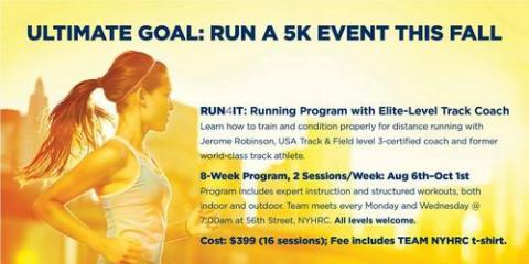 NYHRC RUN4IT Running Lectures with Jerome Robinson, Manhattan, New York